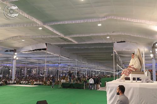 Satguru Mata Sudiksha Ji Maharaj on sacred dais
