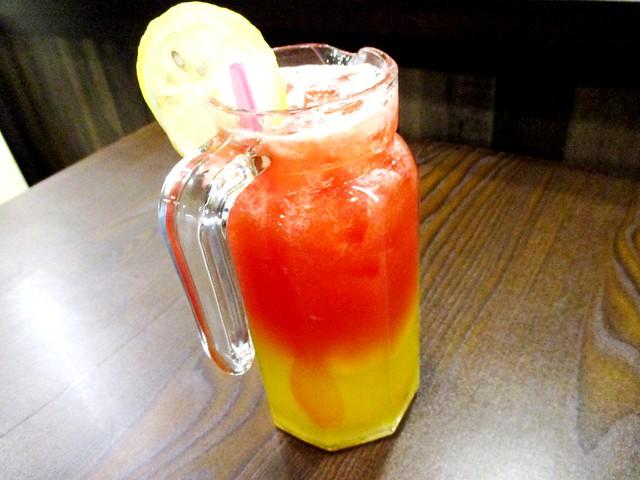 Mr Cow watermelon & passion fruit juice