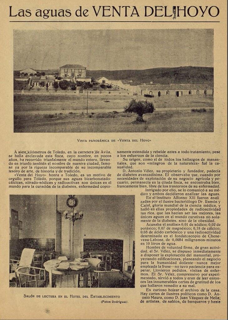 Reportaje sobre la Venta del Hoyo. El Castellano gráfico verano de 1924