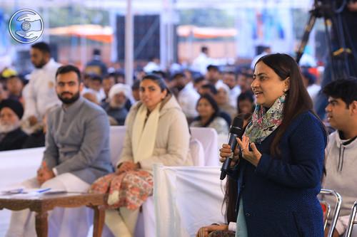 Geeta Chandna Ji presenting her vision