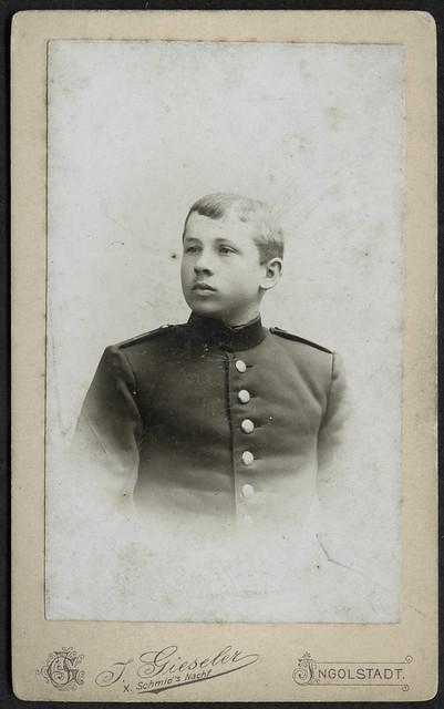 ArchivV32 Junger Kadettenschüler, Porträt, Ingolstadt, 1900er