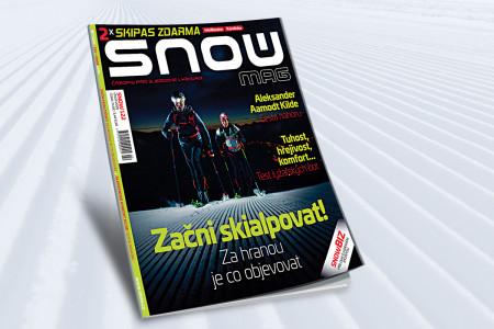 SNOW 122 (únor 2020) - jak začít skialpovat a test lyžařských bot + 2x skipas zdarma