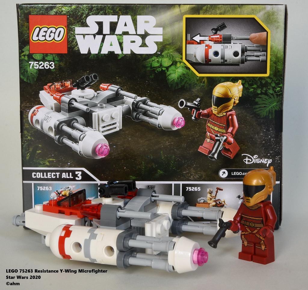 100 pcs 75263 Set de construction Star Wars Microfighter Y-wing™ la Résistance
