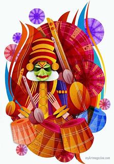Digital Art Painting Kerala Kathakali