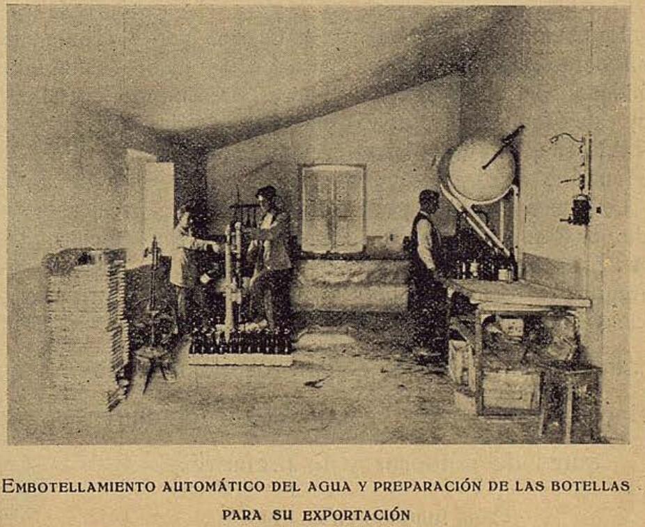 Embotelladora de las aguas del Manantial de la Venta del Hoyo. El Castellano gráfico verano de 1924