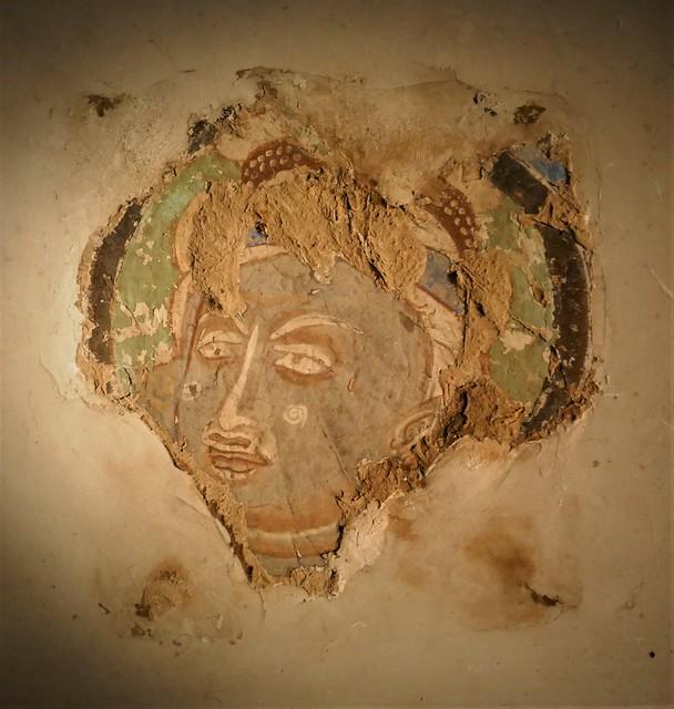 Peinture murale sur torchis, VI-VIIe siècle, grottes de Kizil, Kuqa, Xinjiang, collection  David, Kronprinsessegade, Amalienborg, Copenhague, Danemark.