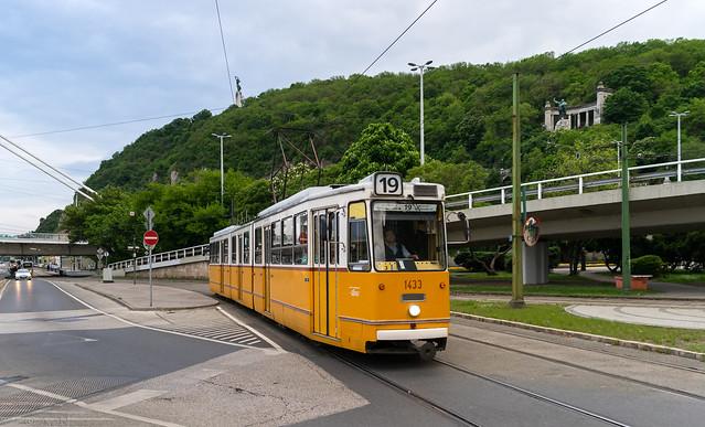 Budapest tramway: Ganz CSMG2 # 1433
