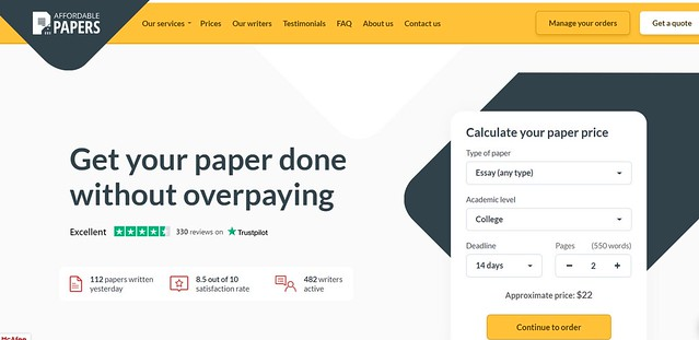 affordable paper homepage