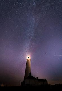 Nash Point Lighthouse underneath the Milky Way
