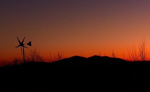 Hallow Sunset - Malverns Silhouette