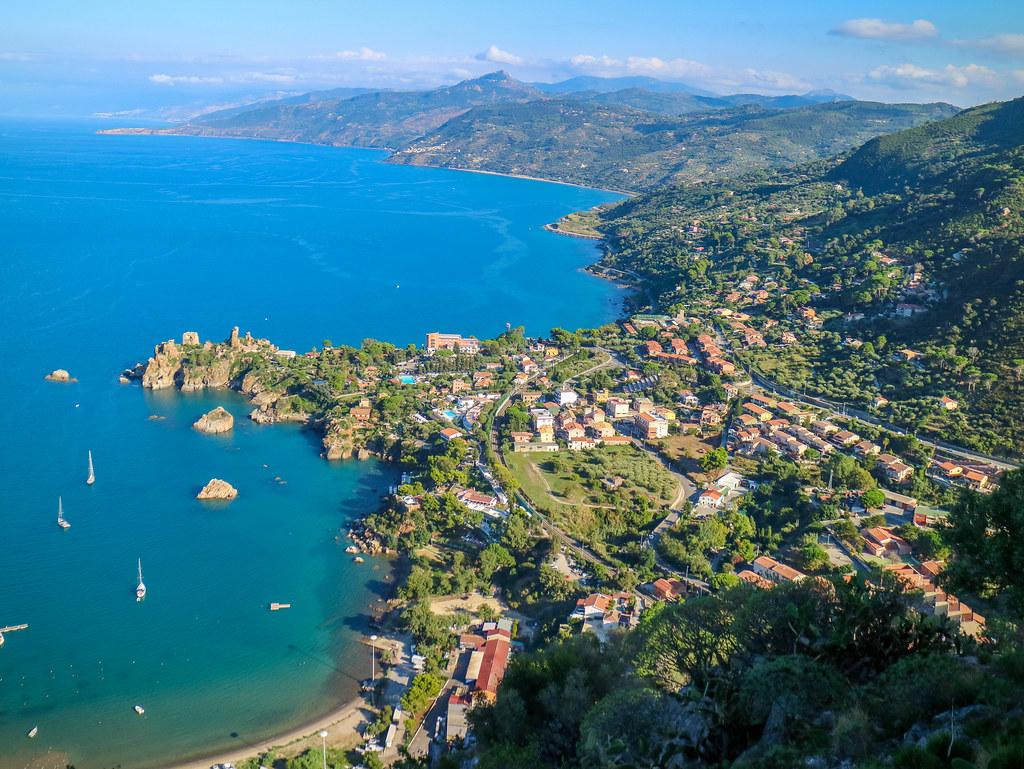 Vista desde la Rocca en Cefalu