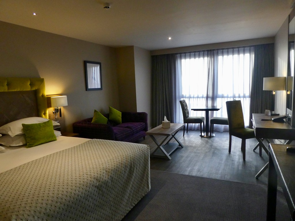 Our deluxe executive room at the Boulevard Hotel, Blackpool