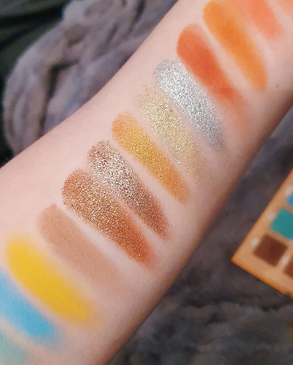 thirsty glitter swatches