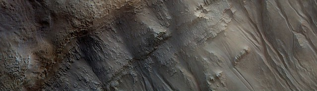 Mars - Crater and Gullies in the Newton Basin