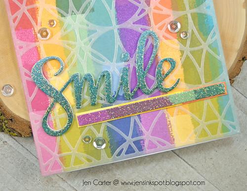 Jen Carter CP Create Smile Stained Class Vellum Closeup