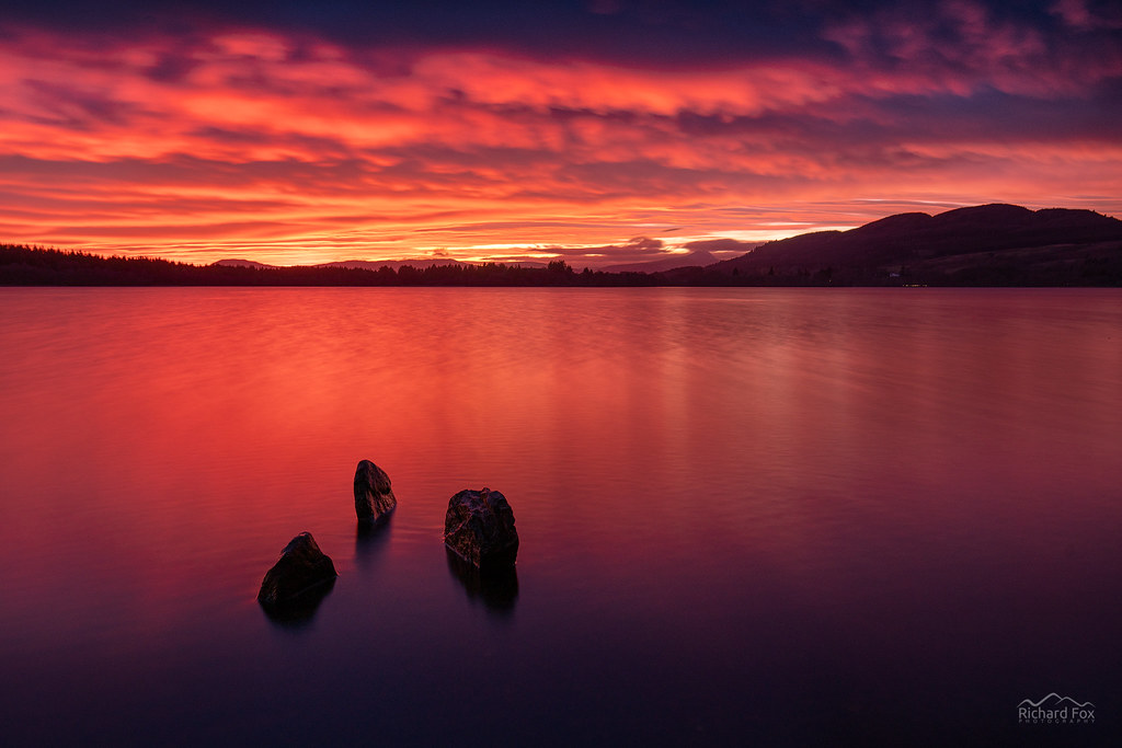 Port Rouge by Richard Fox   Via Flickr:  Sunday was a day of amazing skies. I had planned on an early rise and a Munro but my...
