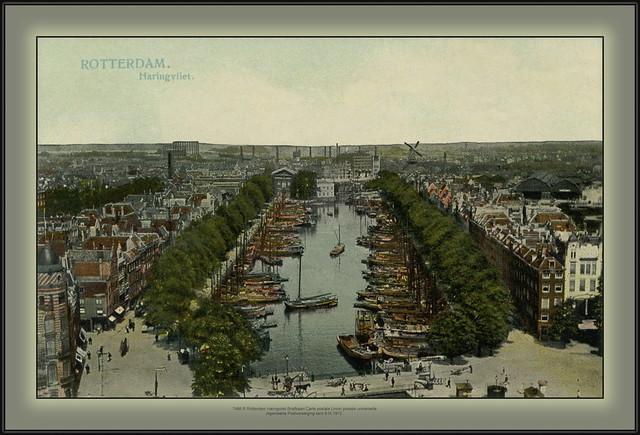 7466 R Rotterdam Haringvliet Briefkaart Carte postale Union postale universelle Algemeene Postvereeiging sent 9.IX.1912.