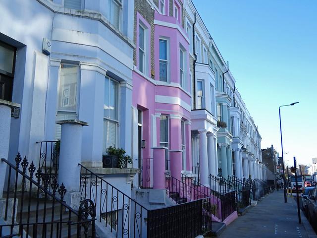maisons colorées de portobello
