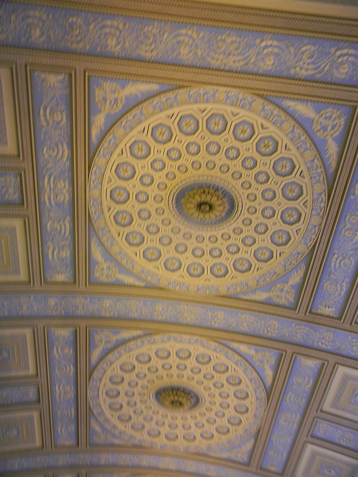 Chapel ceiling Blackheath to Canary Wharf