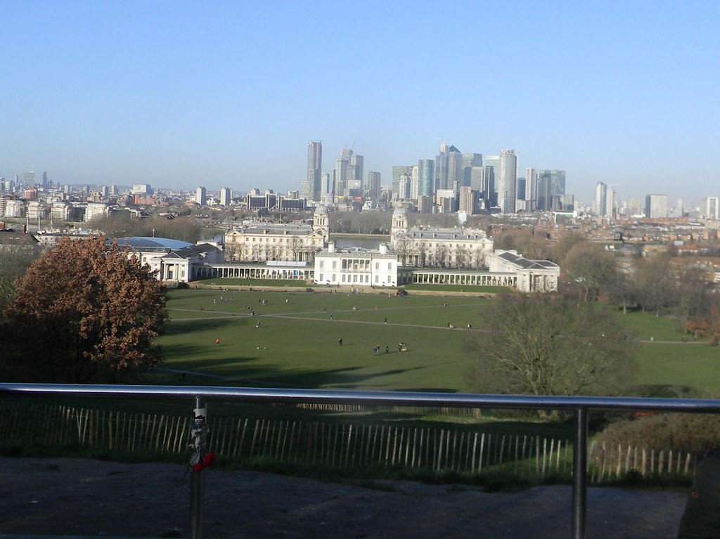 View from on high Blackheath to Canary Wharf
