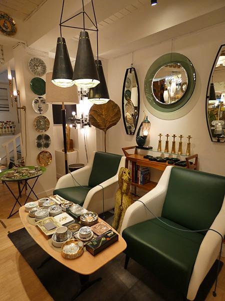 fauteuils verts