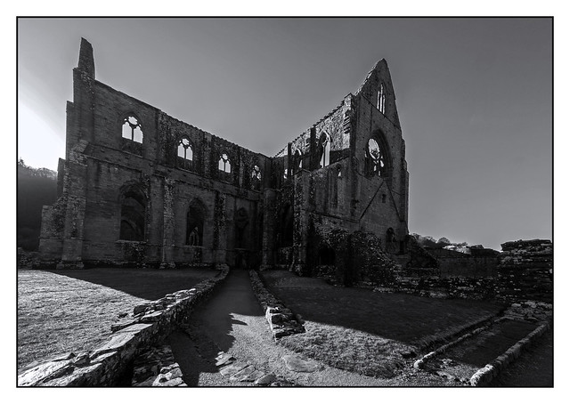 Tintern Abbey in Black and white