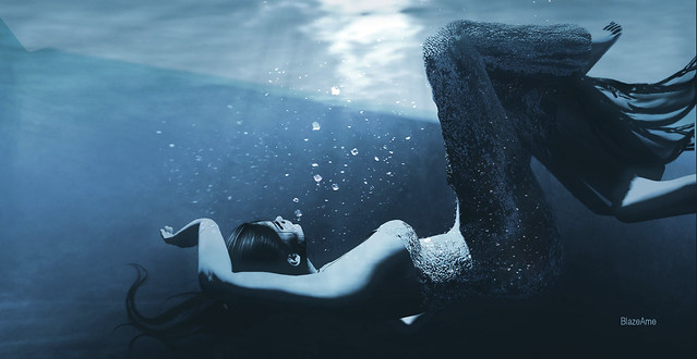 ....and when you're hiding underwater...Trade in your darkness for the light