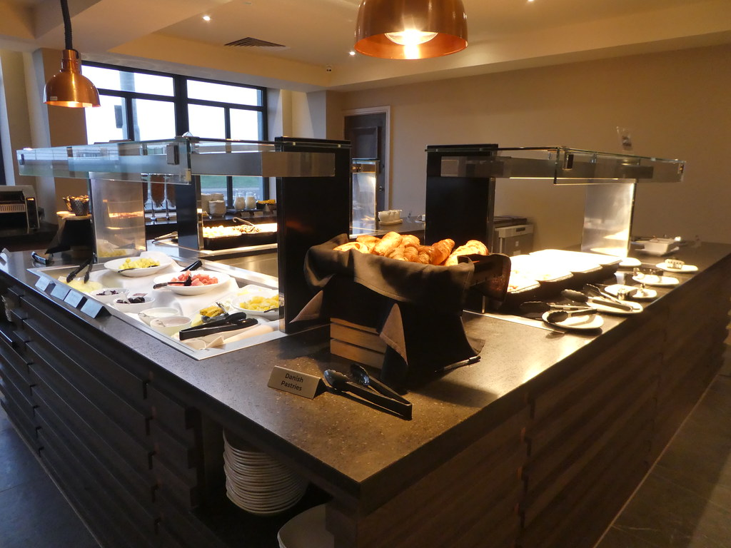 Breakfast buffet at the Boulevard Hotel, Blackpool
