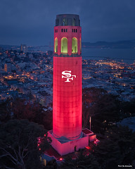 Red Coit Tower