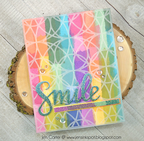 Jen Carter CP Create Smile Stained Class Vellum