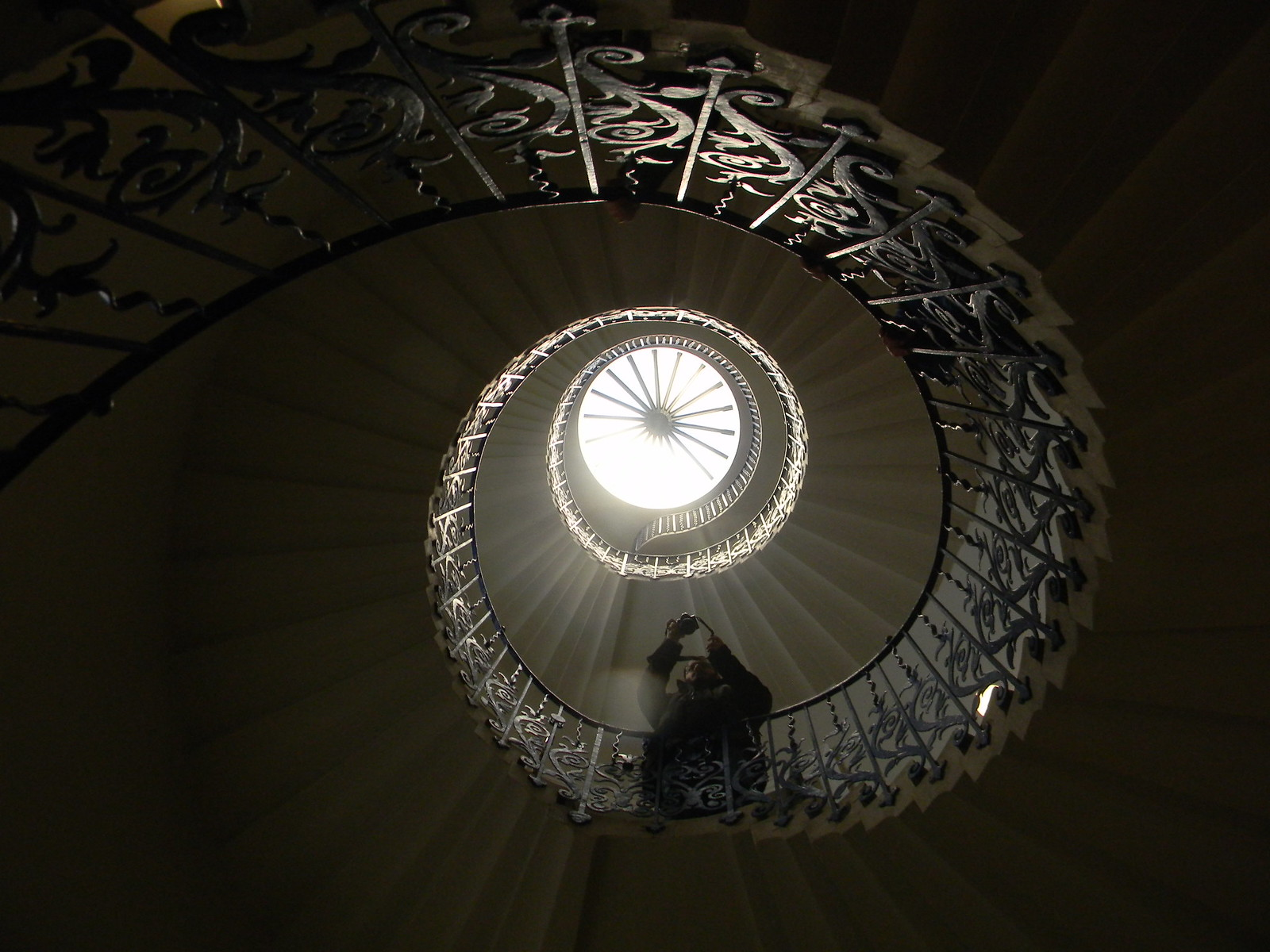 Tulip staircase Queen's House Blackheath to Canary Wharf
