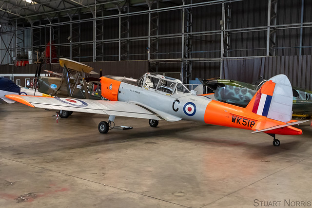 Chipmunk T10 WK518 - Battle of Britain Memorial Flight - RAF Coningsby