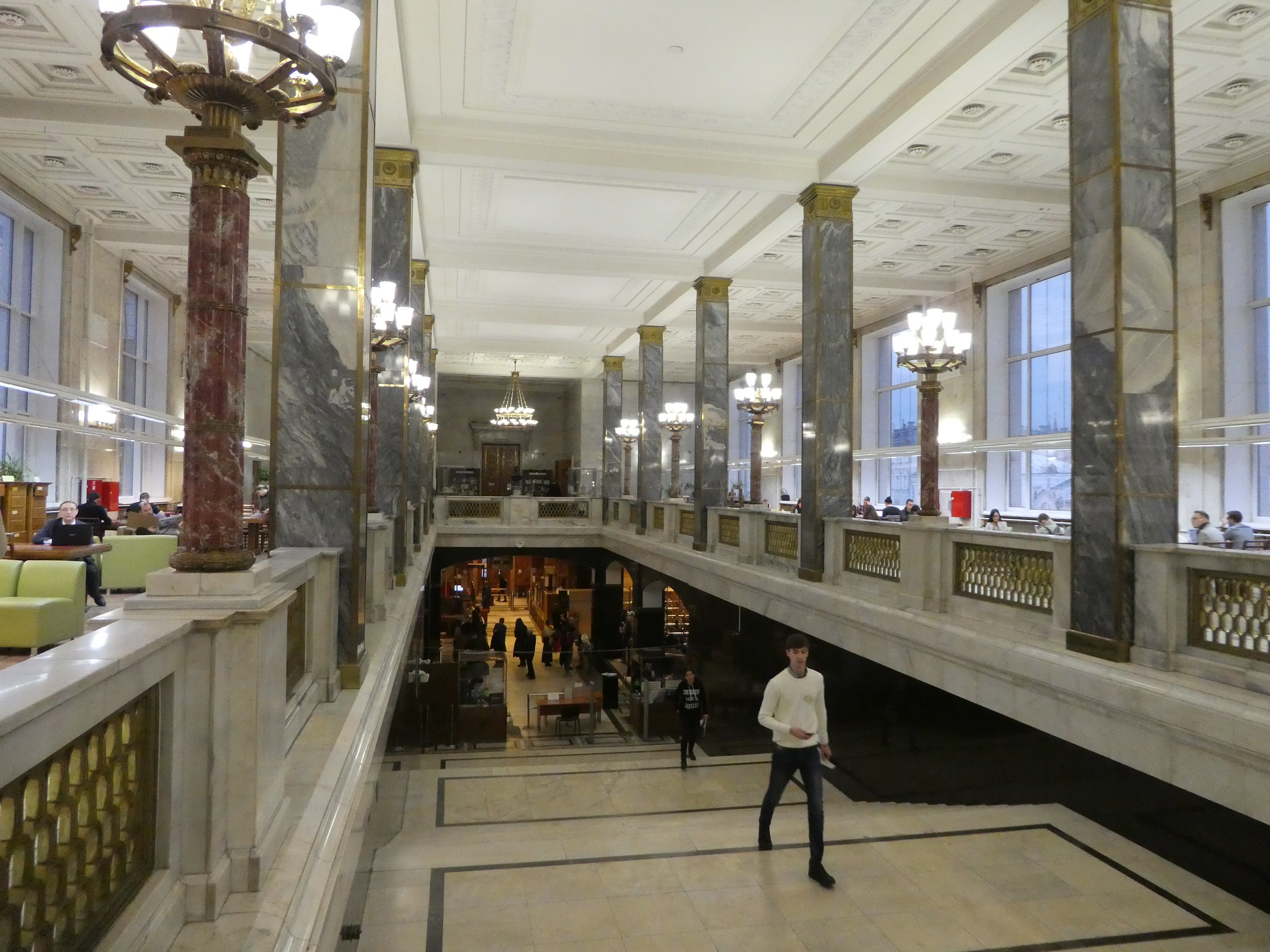 The entrance hall of the Moscow State Library