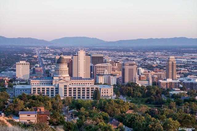 Salt Lake City Skyline, Utah, Summer 2019