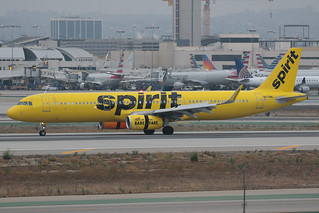 Spirit Airlines Airbus A321-231 N673NK 190819 LAX