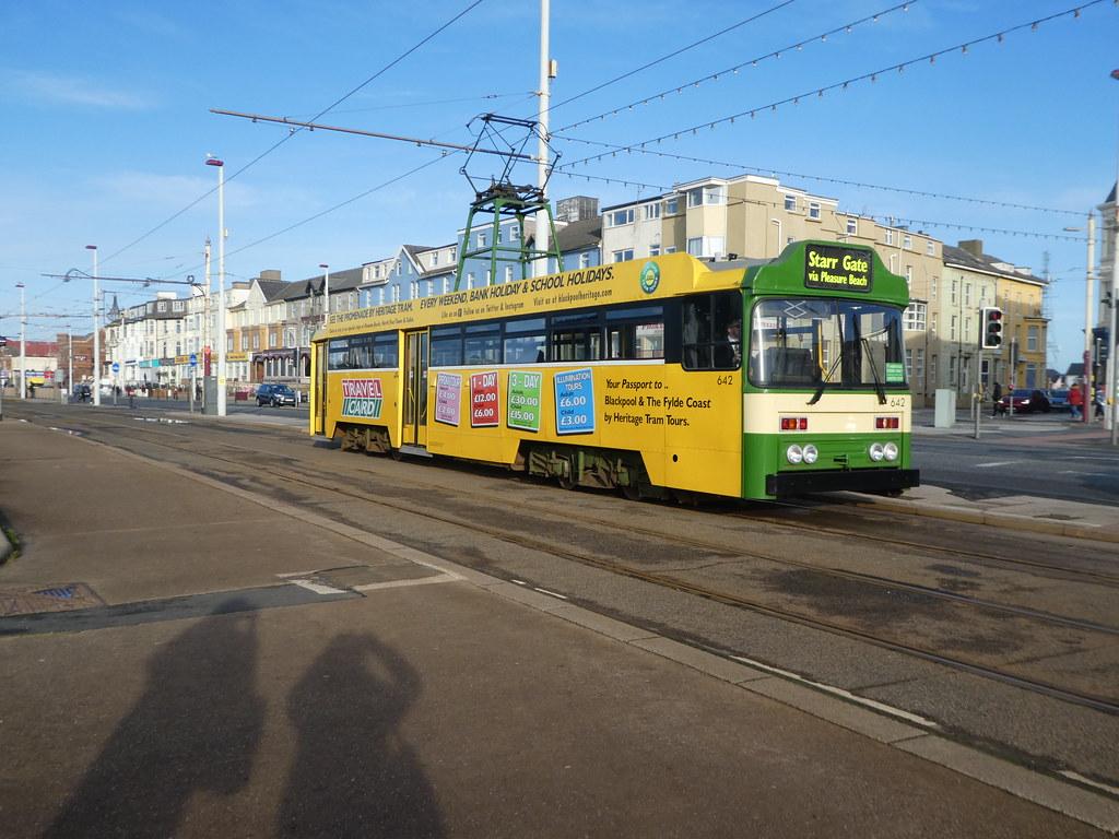 Heritage tram, Blackpool seafront