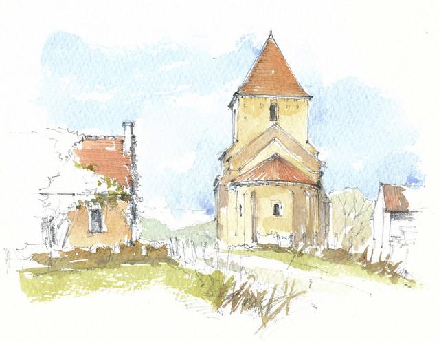 France, Nièvre, Chevenon, la Chapelle Saint-Etienne de Jaugenay