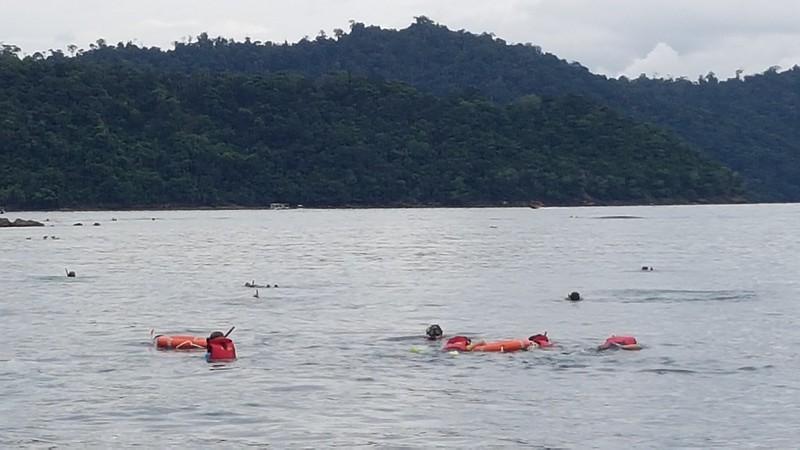 Snorkelling in KK