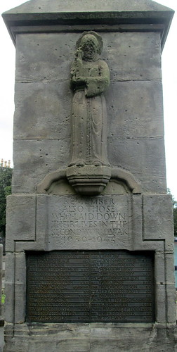 Markinch War Memorial WW2 Dedication and St Drostan
