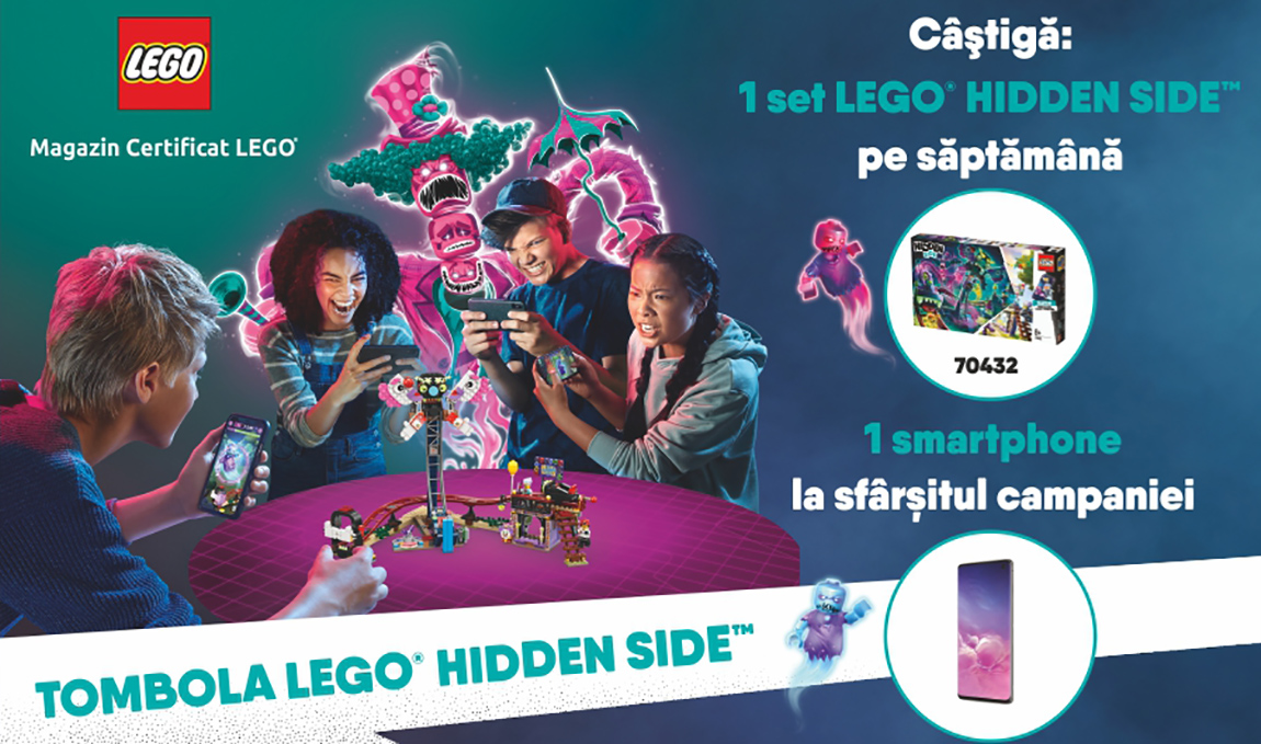 Castiga un smartphone la tombola LEGO® Hidden Side™ by Brick Depot