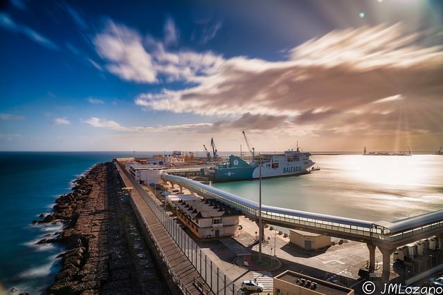 el puerto en invierne