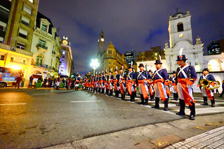 Army Band in Buenos Aires, Argentina