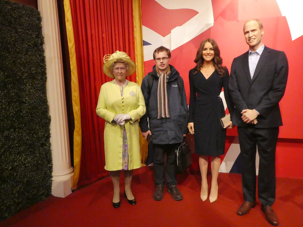 With the Royal Family, Madame Tussauds Blackpool