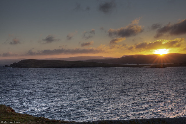 Winter sunset; Shetland Islands
