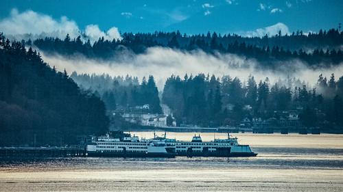 Ferries at Golden Hour, Vashon Island