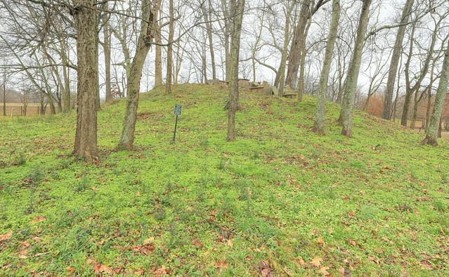 Conical Mound, Woodland Period (Copena), Oakville Indian Mounds, Lawrence County, Alabama 1