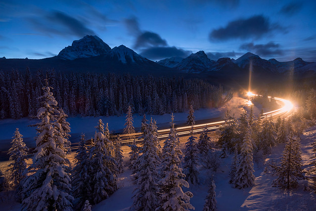 Light It Up | Morant's Curve, Canadian Rockies