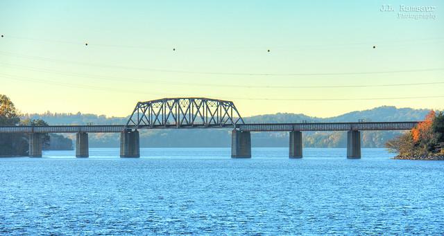 Railroad Bridge over the Little Tennessee River - Vonore, Tennessee