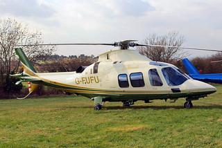 G-FUFU   Agusta A.109S Grand [22058] (Air Harrods) Cheltenham Racecourse~G 18/03/2011