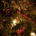 Pine cones on the Christmas tree